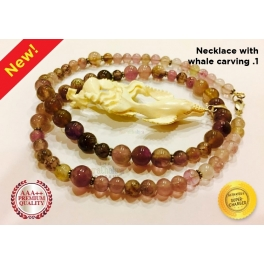 Auralite-23 Necklace with Whale carving