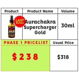 AuraChakra Supercharger GOLD 30ml U.P. $318- NOW $238