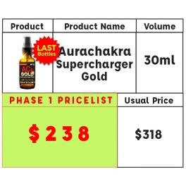 (Pre-Launch! Special Promo) AuraChakra Supercharger GOLD