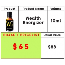Wealth HVF Energizer 10ml U.P. $80- NOW $65