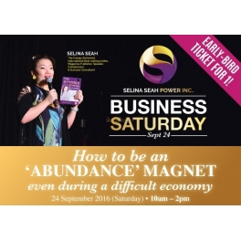 Business Saturday with Selina Seah (EARLY-BIRD TICKET FOR ONE!)